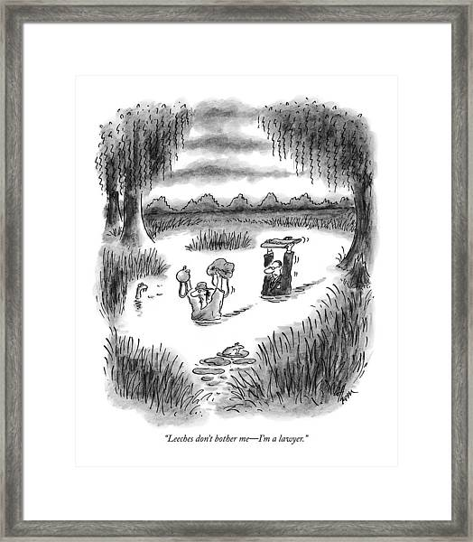 Leeches Don't Bother Me - I'm A Lawyer Framed Print