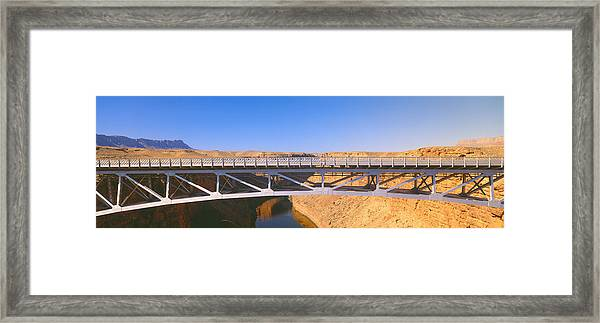 Lees Ferry In Marble Canyon, Navajo Framed Print