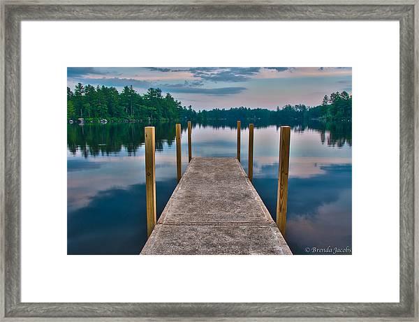 Lees Mills Dock Framed Print