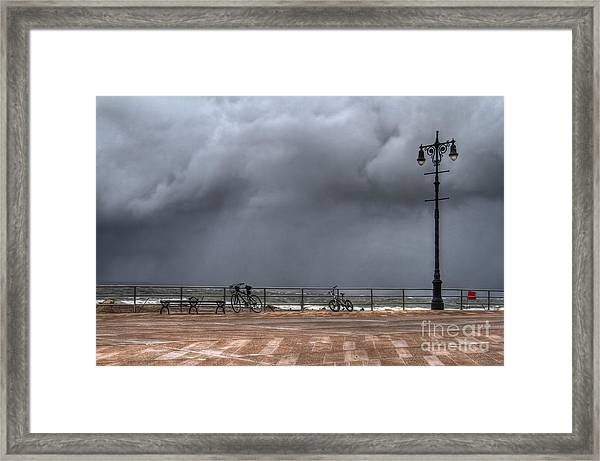 Left In The Power Of The Storm Framed Print