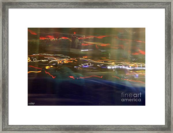 Left To Right Lights Framed Print by Size X