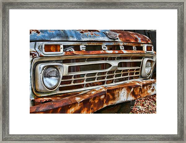 Left To Rust By Diana Sainz Framed Print