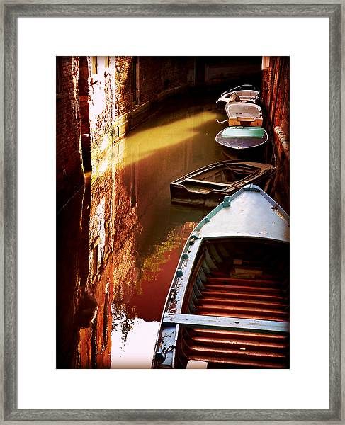 Legata Nel Canale Framed Print