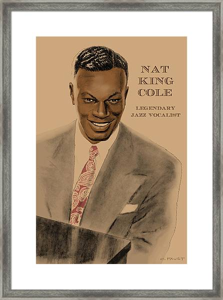 Legendary Jazz Vocalist Framed Print