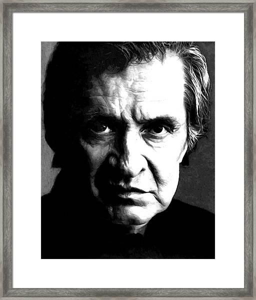 Legendary Johnny Cash Framed Print