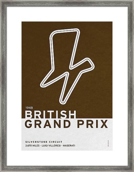 Legendary Races - 1948 British Grand Prix Framed Print