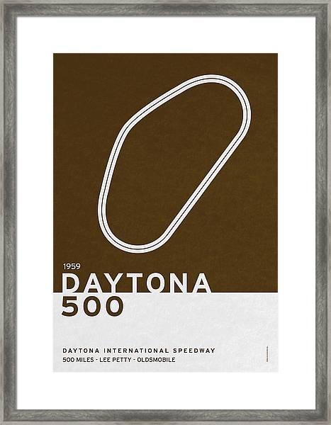 Legendary Races - 1959 Daytona 500 Framed Print