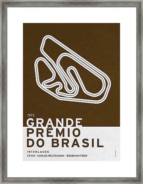 Legendary Races - 1973 Grande Premio Do Brasil Framed Print