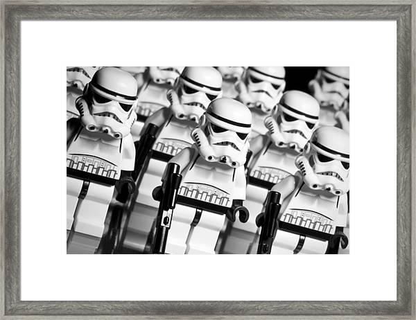 Lego Storm Trooper Army Framed Print