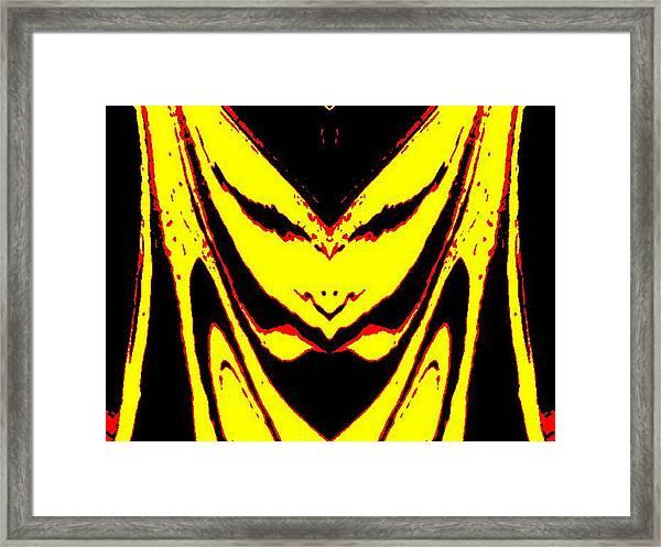 Lemon Face Framed Print