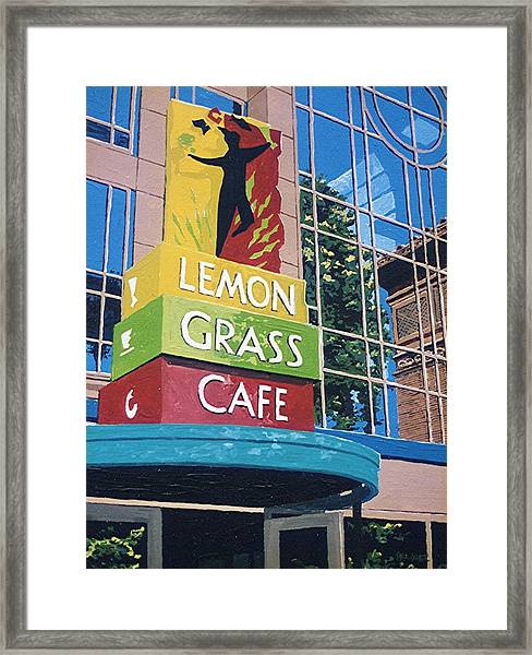 Lemon Grass Framed Print by Paul Guyer