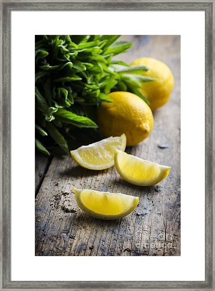 Lemon Slices Framed Print