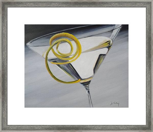 Lemontini Framed Print
