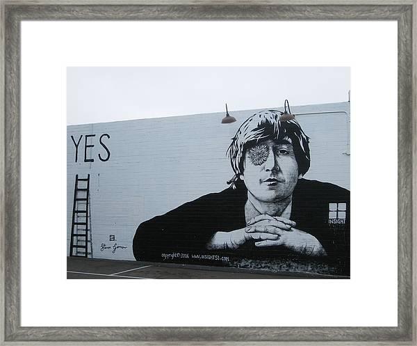 Lennon Portrait Framed Print