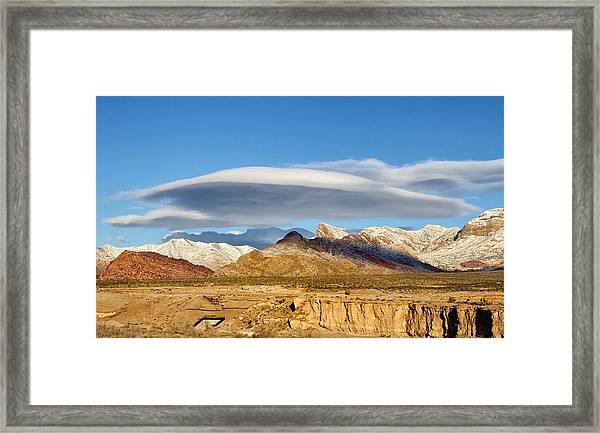Lenticular Cloud Red Rock Canyon Framed Print