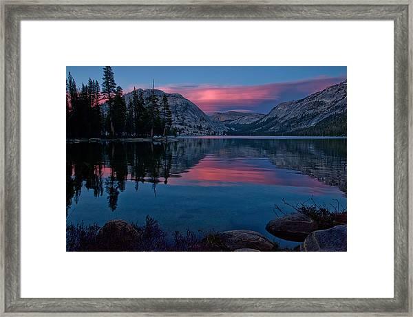 Lenticular Sunset At Tenaya Framed Print
