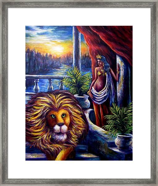 Leo And The Virgin Framed Print