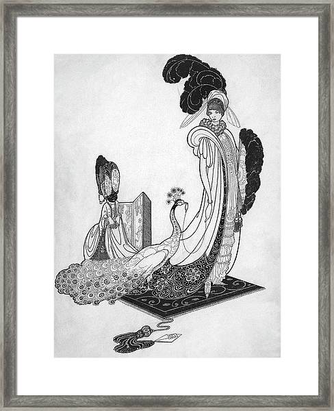 Leon Bakst Style Illustration Framed Print by Alan Olde