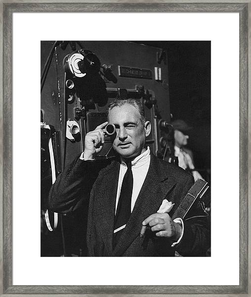 Leon Shamroy Looking Through A Lens Framed Print
