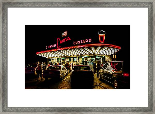 Leon's Frozen Custard Framed Print