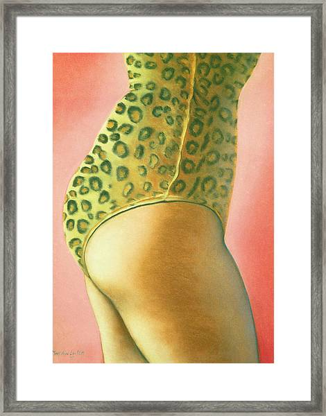 Leopard Suit Framed Print
