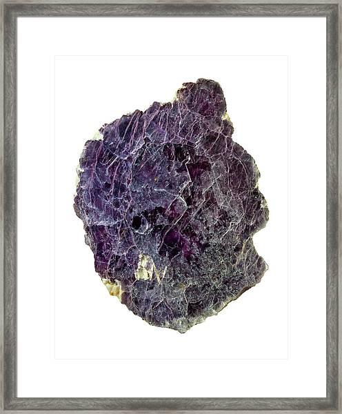 Lepidolite Lilac Rock Crystal Framed Print