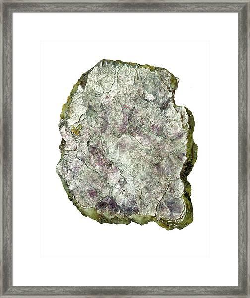 Lepidolite Mica Rock Framed Print