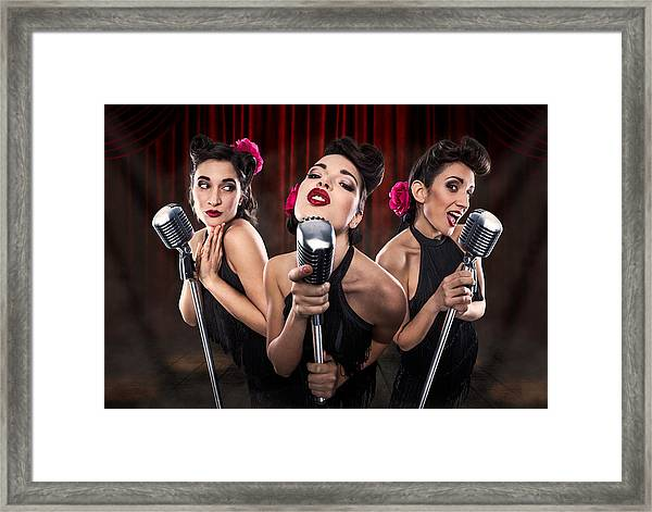 Les Babettes - Turbo Swing Trio Framed Print