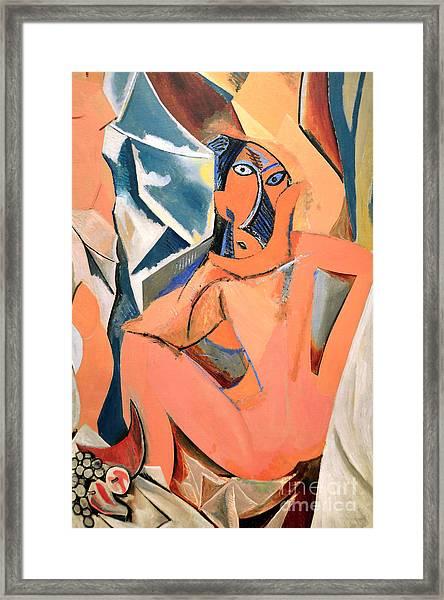 Les Demoiselles D'avignon Picasso Detail Framed Print