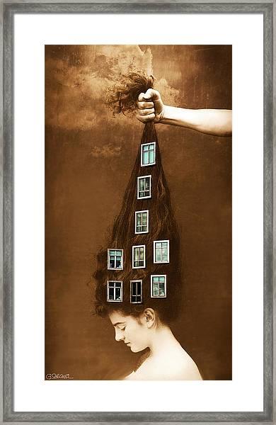 Les Promesses D'une Chevelure - Head Of Hair Promises Framed Print