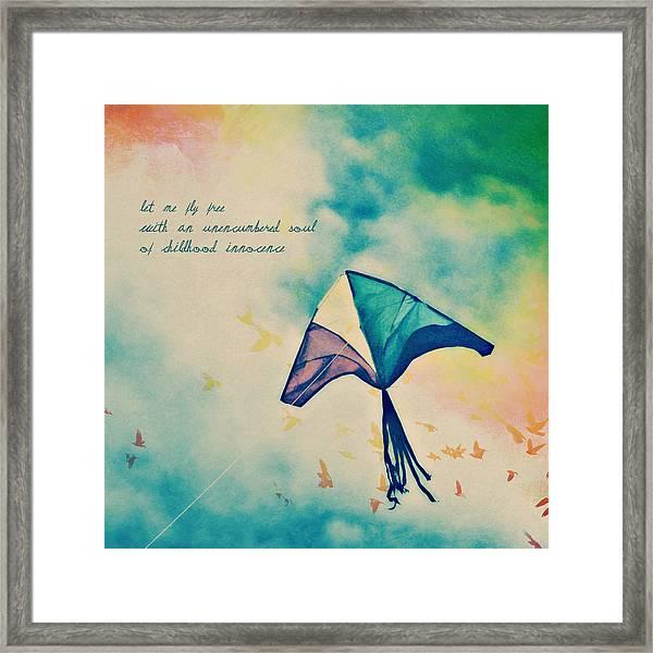 Let Me Fly Free Framed Print