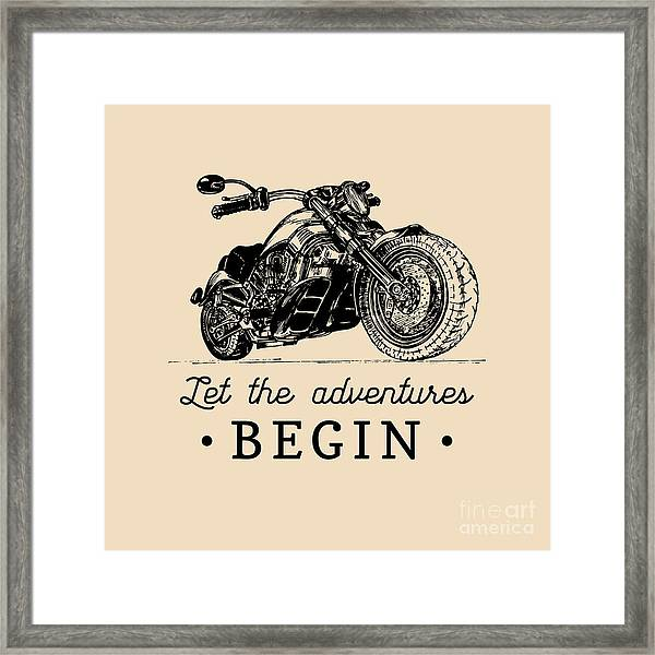 Let The Adventures Begin Inspirational Framed Print by Vlada Young