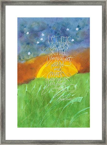 Let The Waters Settle Framed Print