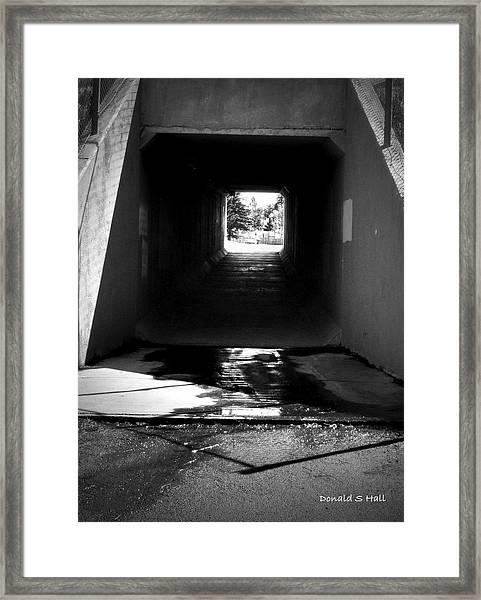 Lethbridge Underpass Framed Print
