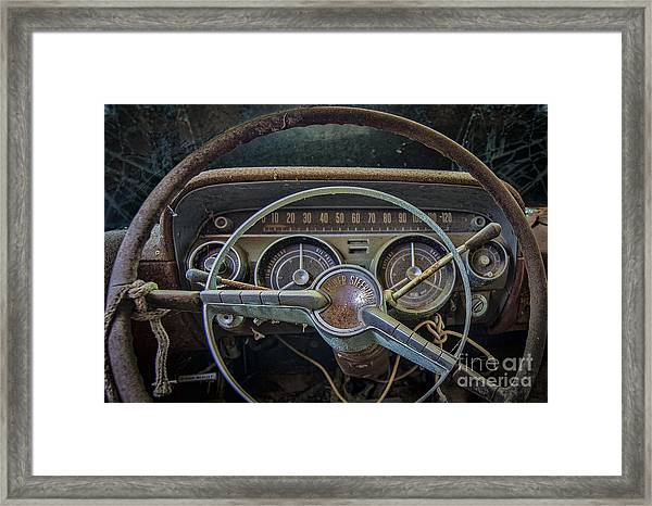 Let's Drive Framed Print