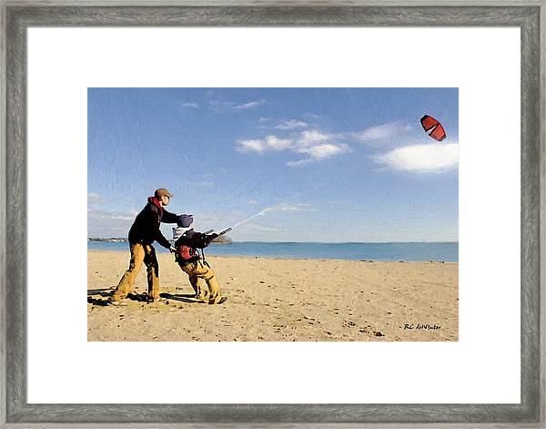 Let's Go Fly A Kite Framed Print