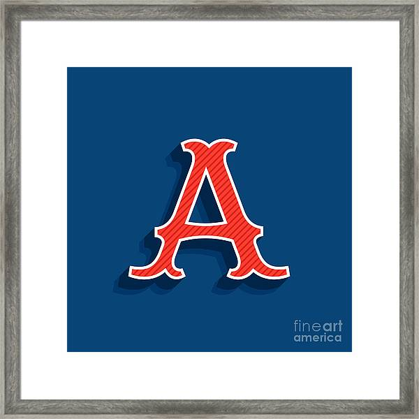 Letter A Logo In Classic Sport Team Framed Print