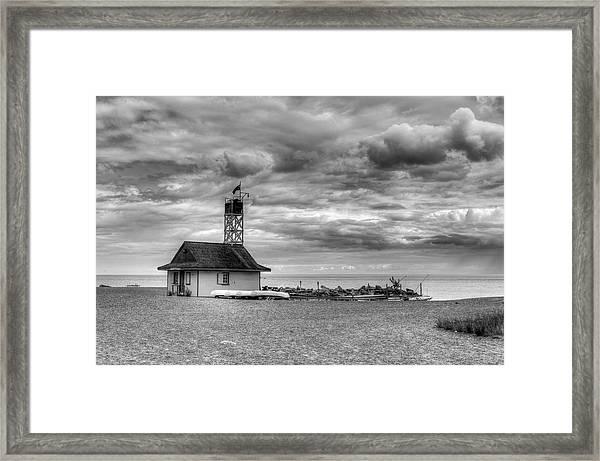 Leuty Lifeguard Station Framed Print