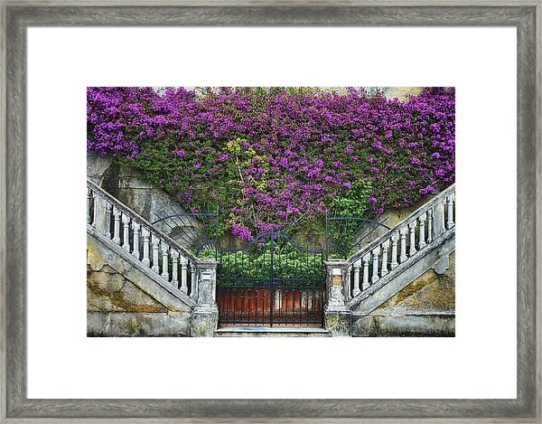 Framed Print featuring the photograph Levanto Facade by Gigi Ebert