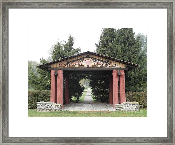 Lheit-li Nation Burial Grounds Entrance Framed Print