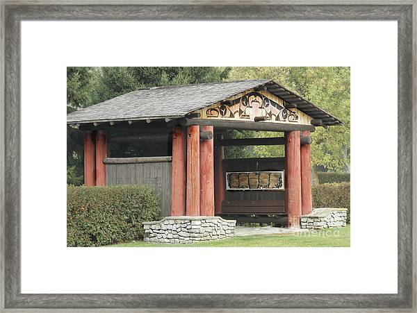 Lheit-li National Burial Grounds Entranceway Framed Print
