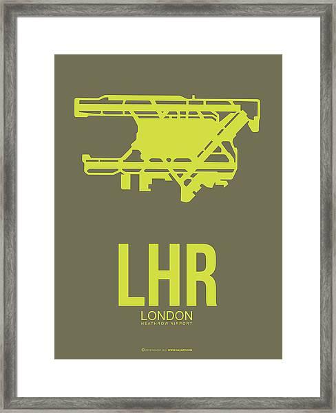 Lhr London Airport Poster 3 Framed Print