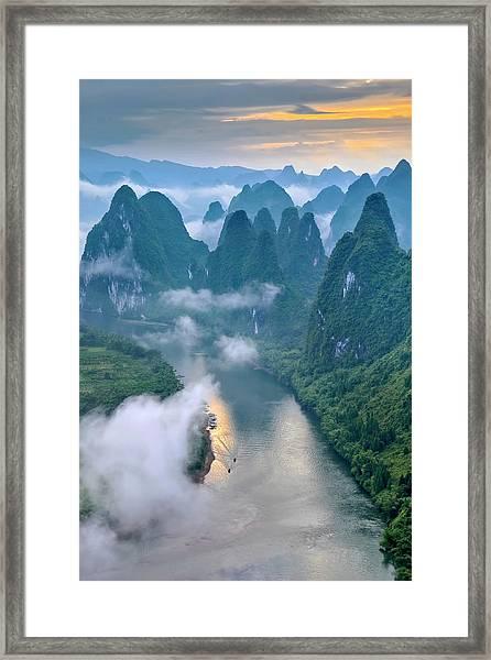 Li River Framed Print