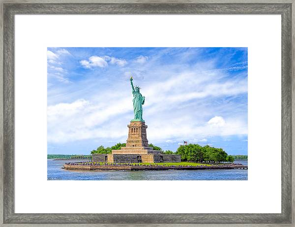 Liberty Enlightening The World - New York City Framed Print