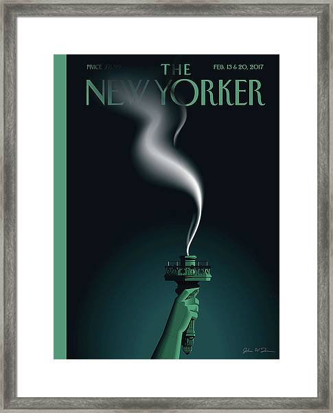 Liberty's Flameout Framed Print