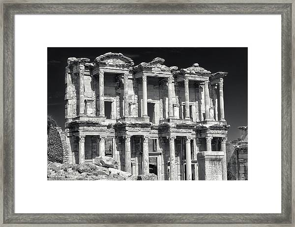 Library Of Celsus Ruins At Ephesus Framed Print