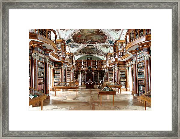Library Of St Gall's Abbey Framed Print by Michael Szoenyi/science Photo Library