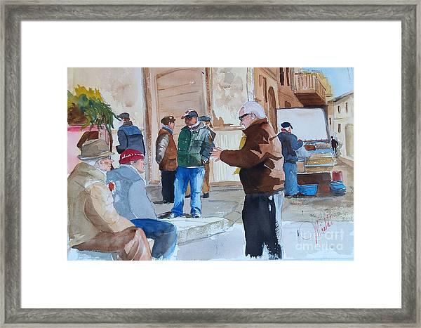 Licata Piazza Framed Print
