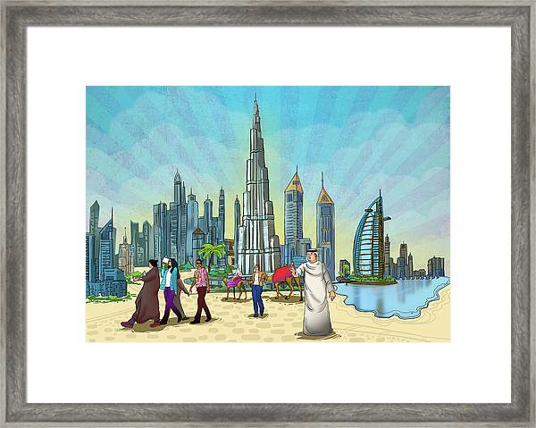 Life In Dubai Framed Print