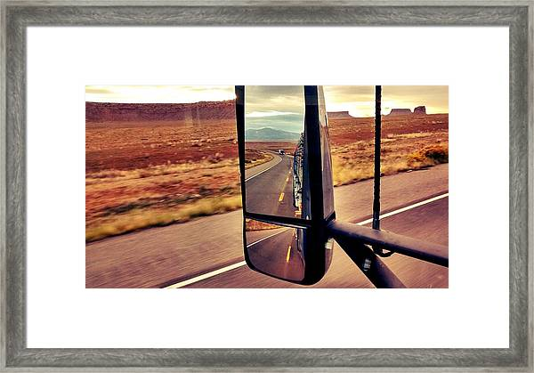 Life In My Rearview Mirror Framed Print